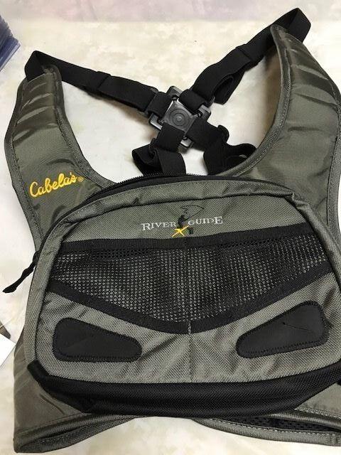 CABELAS RIVER GUIDE CHEST VEST XL  NEW TROUT STEELHEAD SALMON