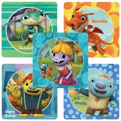 Wallykazam Stickers x 6 Party Supplies Favours Loot Bags Birthday Party Lolly