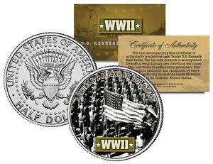 World-War-II-AFRICAN-AMERICAN-SOLDIERS-JFK-Kennedy-Half-Dollar-US-Coin