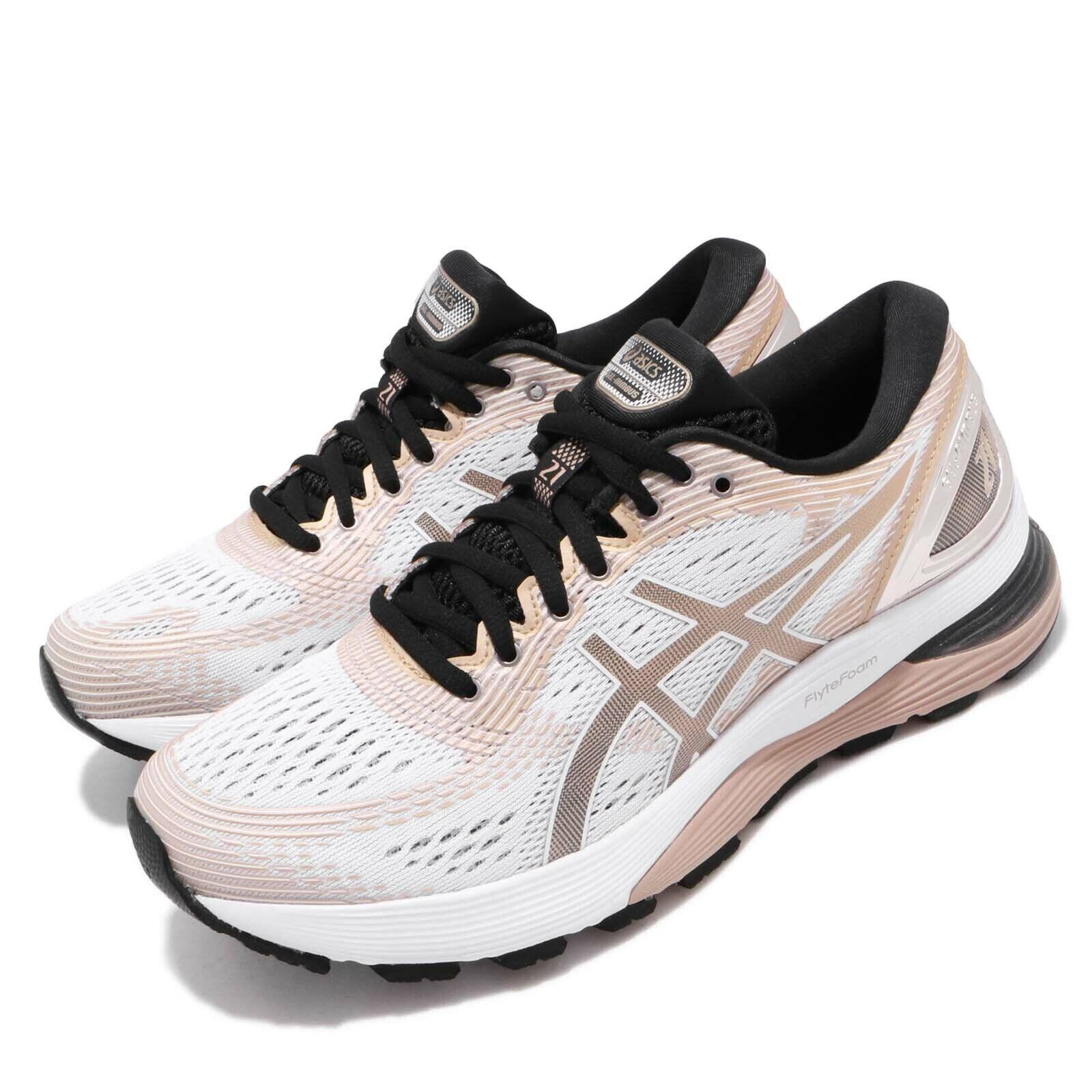 Asics Gel-Nimbus 21 Platino blancoo Hielo Almendra Zapatos para mujer run 1012A608-100