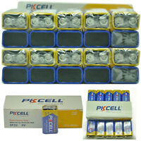 100X Wholesale 9V 6F22 Super Heavy Duty Carbon-Zinc Battery PKCELL Fast Shipping