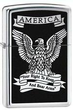Zippo 28290 eagle right to bear arms hp chrome Lighter