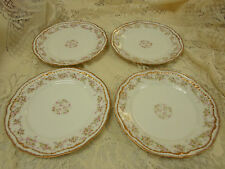 "Theodore Haviland Limoges France Double Gold Pink Roses 8.5"" Plates"