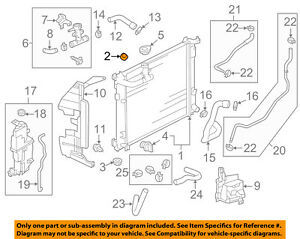 Genuine Nissan Radiator Lower Insulator 21507-1HA0B