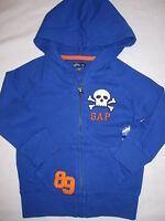 Boys Baby Gap Royal Blue Skull Hoodie Sweatshirt Sz 3t