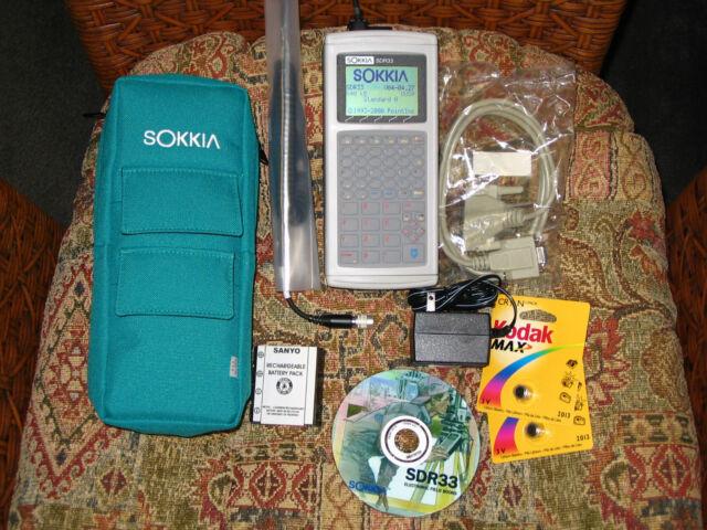 SOKKIA SDR33 4MB DATA COLLECTOR DATALOGGER COMPLETE KIT SDR 33 WARRANTY for sale online