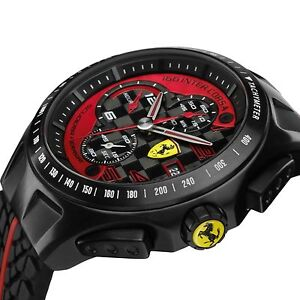 6aa035e42 NEW Scuderia Ferrari Watch, Men's Chronograph Black Red Race Day ...