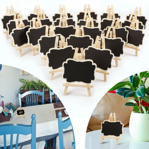 24 Mini Chalkboards Place Cards with Easel Stand Wedding Party Buffet Food Signs