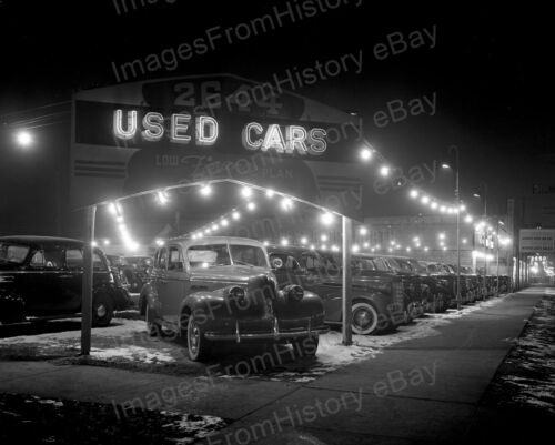 16x20 Poster Historic Chicago Auto Dealer Car Lot 1940/'s #2016486