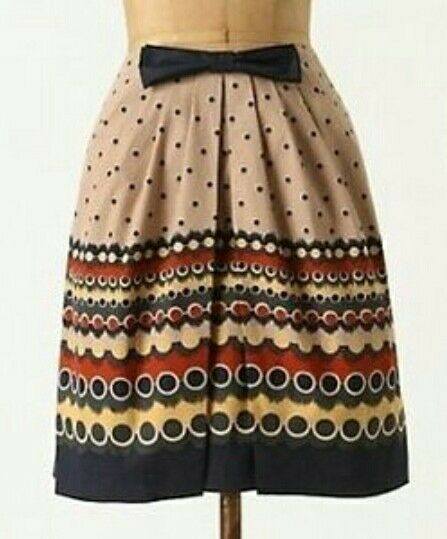 NWT Anthropologie Anna Sui Dots After Six skirt size 0