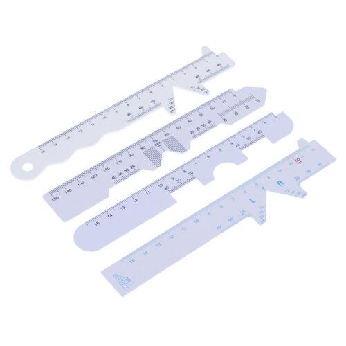 Set White Eye Straight Edge PD Lineal Pupillendistanz Lineal Rha 4 Arten 4pcs