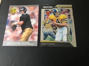 Brett-Favre-2-card-Lot-1-1991-Ultra-RC-283-1-2019-Panini-16-Southern-Miss-SM