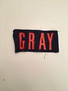 T) Virginia UVA Cavaliers Football Game Worn Jersey Gray Nameplate
