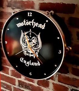 MOTORHEAD-LEMMY-WARPIG-UPCYCLED-DRUM-CLOCK