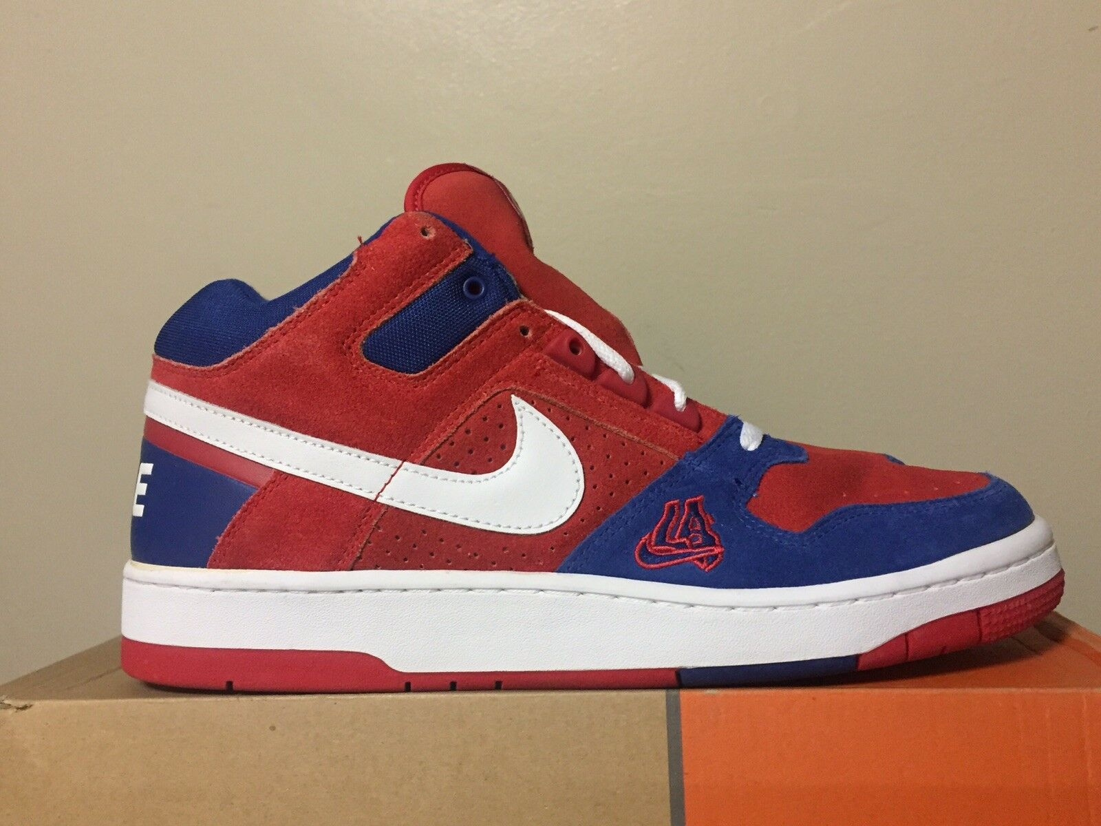 2003 Nike Air DELTA FORCE 3 4 1 LA CLIPPERS ED. RED WHITE blueE 309041-611 SZ.12