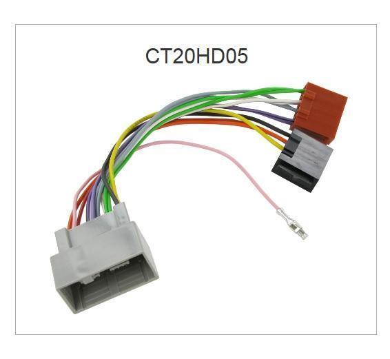 Ct20hd05 Car Stereo Radio ISO Harness Adapter Wiring Honda Jazz 08 ...