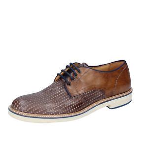 bbd68addcd9df Details about mens shoes +2 MADE IN ITALY 7 (EU 41) elegant brown leather  BT703-41