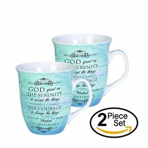 Serenity-Prayer-Teal-Blue-16-Ounce-Ceramic-Stoneware-Coffee-Mugs-Set-of-2