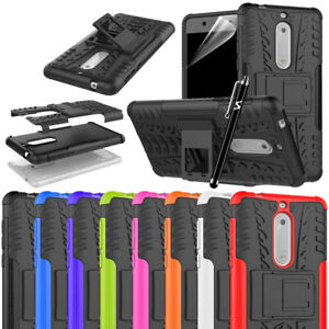 huge discount 210f4 31a01 Details about Nokia 5 Case, Heavy Duty Armour Tough ShockProof Builder and  Hard Back Cover