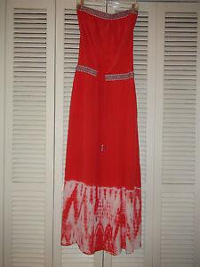 c94c571836f4 Gypsy 05 Cairo 100% SILK Tube Maxi Dress Strapless Tie-Dye $300NWT ...