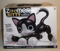 Zoomer Kitty Interactive Cat - Black Robot Animal Pet - Your Purrfect Friend