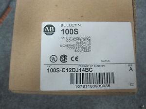 ALLEN BRADLEY 100S-C12DJ14BC SAFETY CONTACTOR NEW