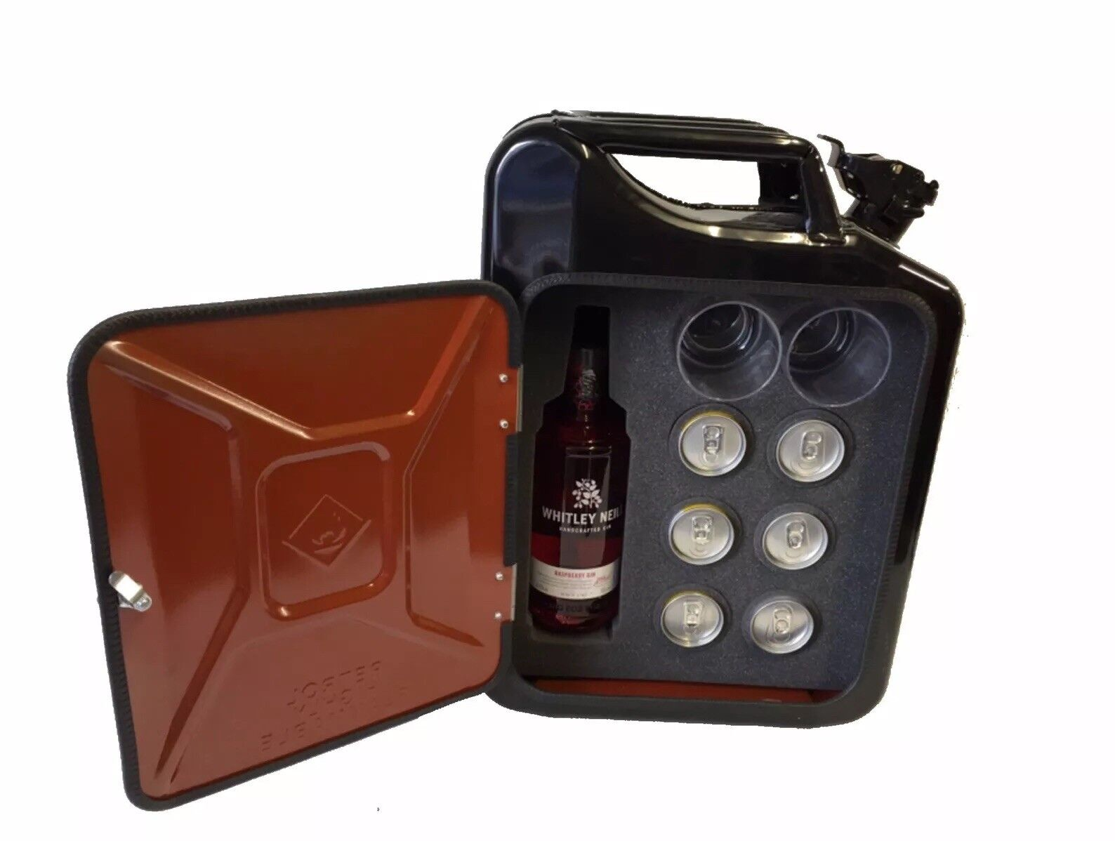 Gin and Tonic Jerry Can Mini Bar Multibottle Universal 7 Colours