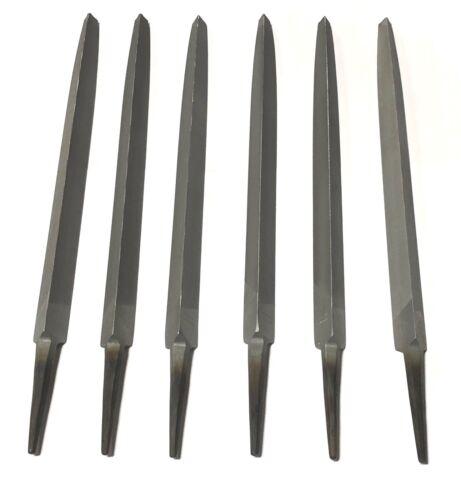 "Nicholson 10/"" Three Square File Smooth Cut Triangle 6 Pack 16213NN"