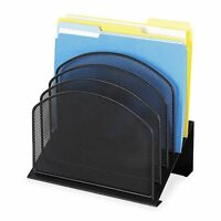 Safco Products Onyx Mesh Desk Organizer, 5 Tiered Sections, Black, 3257bl , New, on sale