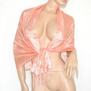Responsable Stola Foulard Donna Coprispalle Rosa Elegante Frangia Sciarpa Scarf Bufanda 500c