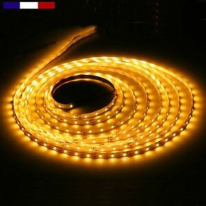 Ruban-leds-2835-60-led-M-12V-etanche-IP65-ORANGE-10cm-a-5M-cable