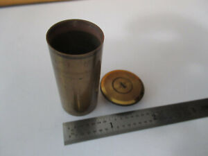 ANTIQUE BRASS circa 1890's BECK EMPTY OBJECTIVE CAN MICROSCOPE PART &F4-A-13