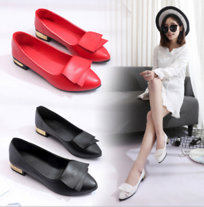 7f7a5886194 New Women Ladies Leather Soft Casual Loafers Work Shoes Ballet Flats ...