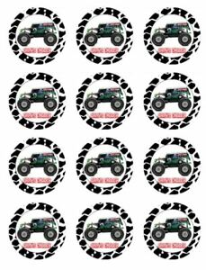 24 TRACTOR Cupcake Edible Wafer Paper Birthday Party Cake Decoration Toppers