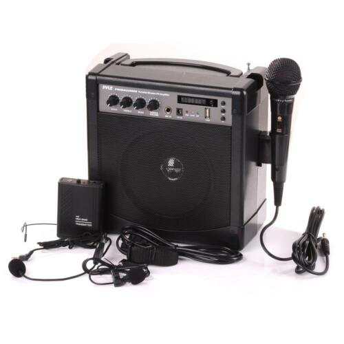PWMA220BM Portable Karaoke Bluetooth PA Speaker Amp Wireless & Wired Mic