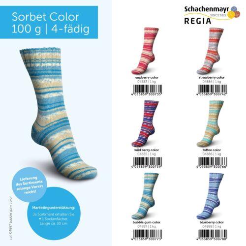 6x100gr  Sockenwolle Regia Color Sorbet Color