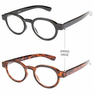 New-Unisex-Retro-Style-Plastic-Round-Medium-Full-Reading-Glasses-Fashion