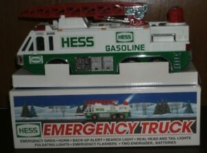 Vintage 1996 HESS Emergency Truck With Lights And Sound Collectible
