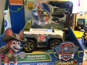 Paw Patrol Tracker Jungle Cruiser Rescue Vehicle Figure Working Wheels Push Play