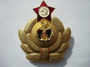 Russische-Sowjetische-Kriegsmarine-Marine-Flotte-Kokarde-Emblem-Cockade-Navy