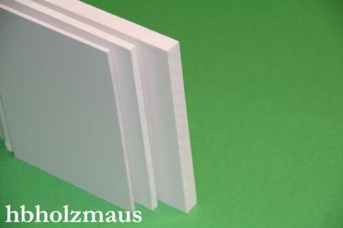 Zuschnitt Platte Größe wählbar 1 mm PVC Hartschaum weiß 14,99€//m²
