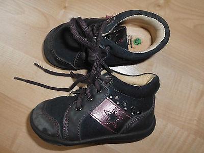 Schöne Bama Mädchen Schuhe Halbschuh Gr.20 Leder blau/lila
