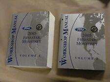 2005 Ford Freestar Monterey Workshop Service Manual Volume 1 & 2 Factory Book