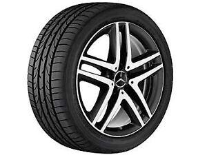 """WDF447 Genuine Mercedes New 2015 Vito//V-Class /""""19/"""" 5-Spoke Alloy Wheel Set"""
