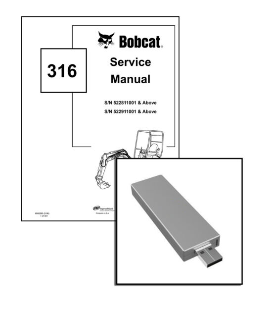 Bobcat 316 compact excavator service manual shop repair book part bobcat 316 excavator workshop service repair manual on new usb stick fandeluxe Choice Image
