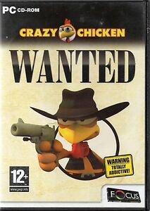 Crazy Chicken Wanted PC CDrom - <span itemprop=availableAtOrFrom>Machynlleth, Powys, United Kingdom</span> - I do try to list all items as accurately as possible and am dedicated to superior customer service. If for any reason you are not 100% satisfied with your purchase, please let  - Machynlleth, Powys, United Kingdom