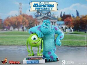 Hot-Toys-Monsters-University-Mike-amp-Sulley-9-034-Vinyl-Figure-Set