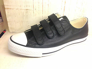 ad97c75a9caf NEW CONVERSE CHUCK TAYLOR ALL STAR BLACK LEATHER STRAPS MEN SHOES ...