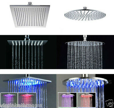 BATHROOM SHOWER HEAD MIXER SET ABS - ULTRA THIN - LED BATHROOM BATH SHOWER HEAD