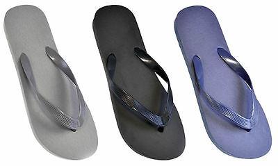 Para Hombre Chicos Plain Flip Flop Sandalias Azul Negro Gris Tallas 7-8 9-10 11-12 ft641